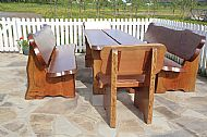 Garden table and bench set