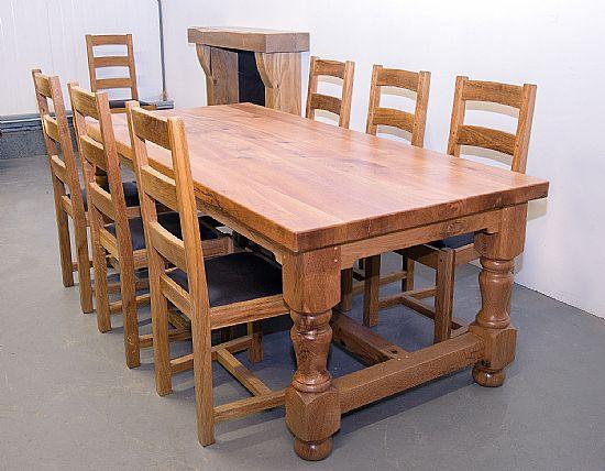 farmhouse furniture - castle dining table