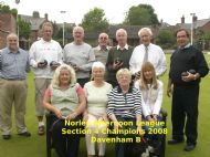Norley Afternoon Section 4 Winners 2008