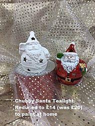 Chubby Santa Tealight, sale price £14