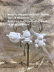 Novelty Shaped Baubles, sale price £9