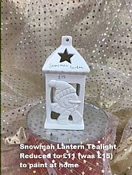 Snowman Lantern Tealight, sale price £11