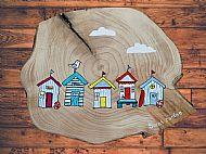 Original Painted Beach Huts Plaque