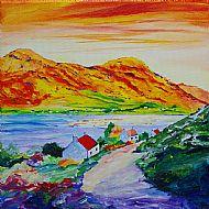 Evening Sun on Glamaig Canvas Print
