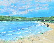 Footsteps in the Sand Framed Fine Art Print