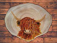 Original Painted Hihland Coo 1 Plaque