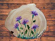 Original Painted Thistles Plaque
