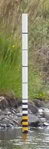 novar fishings, river alness, water depth gauge