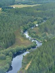novar fishings, river alness, aerial photo beat 1