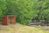 novar fishings, river alness, beat 3 stones pool fishing shelter