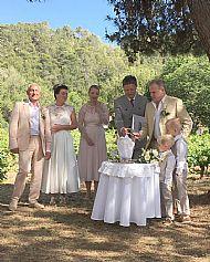 Laura & Michael  June 2019 Chateau D'Agel