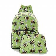 Foldable Bee Backpack Green