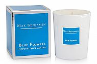 Blue Flowers Candle