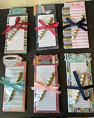 Book Lovers List Pad and Pen