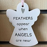 Angel Plaque - Feathers Appear