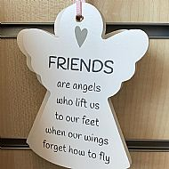 Angel Plaque - Friends are angels who lift us
