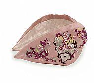 Pink Embroidered Headband