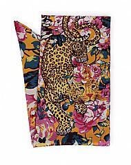 Leopard Floral Satin Scarf