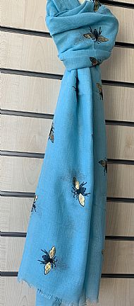 Blue Bee Scarf