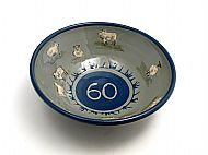 60th birthday bowl with sheep