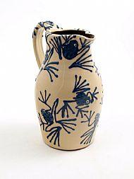 Blue frogs jug - large
