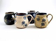 Splodge flower belly mugs