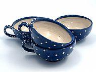 Spotty cappuccino cups