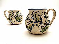 Oak leaf belly mugs