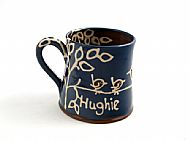 Straight bird mug with name
