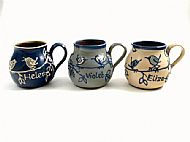 Belly bird mugs with names