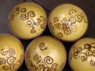 Small honey spiral bowl