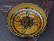 Flat ochre spikey bowl