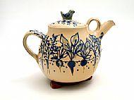 vegetables and bird teapot