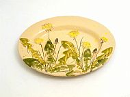 Large oval platter (dandelion)