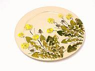 Round serving platter large (dandelion)