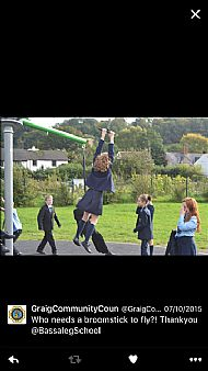 The Bassaleg pupils jump on board!