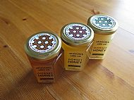 8oz Hex honey jars