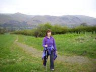 Sandie Macleod in training for Stephen's Footsteps Challenge