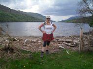 Sonja at Loch Lochy