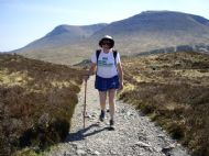 Phyl on the West Highland way.