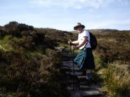 Stephen on West Highland Way- Devils Staircase