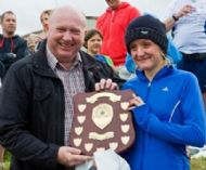 The winners shield presented to Michelle Avery - 1st Lady