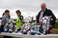 Silverware on display with Winner and Runner-up Shields for the 10k and Junior Race and trophies for 1st, 2nd and 3rd in both the Junior Race and the Mini-run for Boys and Girls!