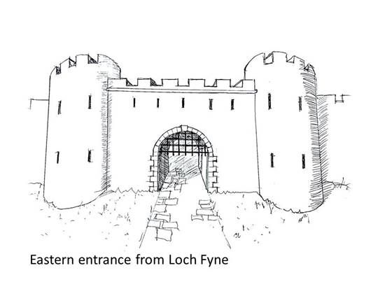 artist's impression of recently discovered east gate