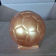 Golden football money box