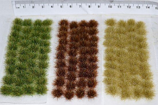 12mm MASSIVE STRAW GRASS TUFTS 50 Self-Adhesive Tufts per Sheet