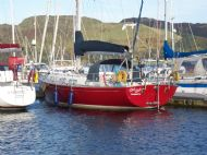 red ruth, port quarter on pontoon in ardfern october 2007