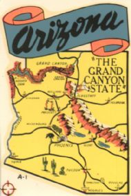 State Map Grand Canyon State