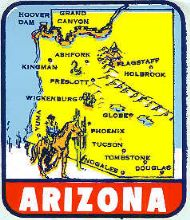 State Map Cowboy in left bottom corner
