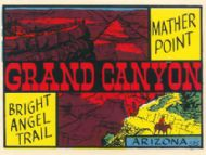 Grand Canyon Mather Point Bright Angel Trail